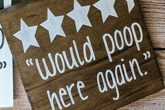 Selling with online payment: Would Poop Here Again Bathroom Sign