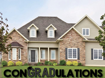 "Book & Pay Online (per party package rental): ""ConGRADulations"" Yard Sign"
