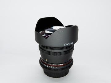 Vermieten: Samyang 14mm T3.1 VDSLR II Canon EF (Fisheye)