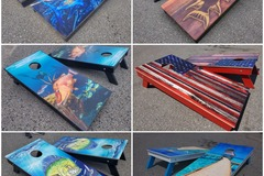 Selling with online payment: Custom Cornhole Boards