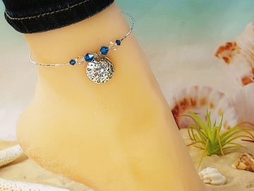 Selling with online payment: Sand Dollar Ankle Bracelet
