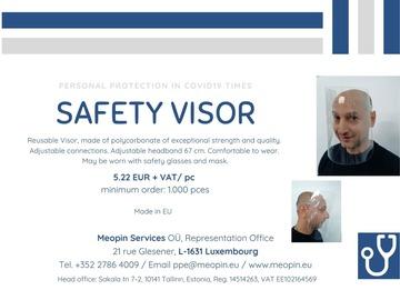 Product: Safety visor - Visière de sécurité - Sicherheitsvisier