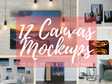 Offering online services: 12 Canvas Mockups