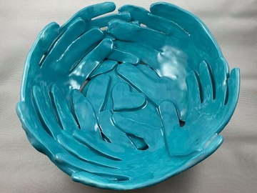 Selling with online payment: Custom Clay Hand Keepsake Bowl
