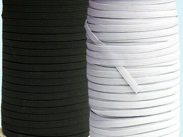 """Sell your product: 1/4"""" Flat Elastic Cord - per YD"""