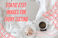 Offering online services: 2 Custom Static Listing Images