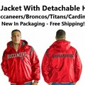 Buy Now: Men's NFL Jacket With Detachable Hood, Brand New, Free Shipping!