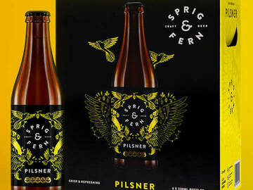 Selling with online payment: Sprig & Fern Pilsner Craft Beer 330ml (24 pack)