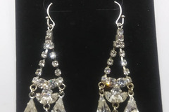 Compra Ahora: 100 Pair New Rhinestone High Quality Crystal Earrings