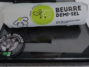 Vente avec paiement en direct: Beurre fermier Bio de vaches jersiaises 200 gr