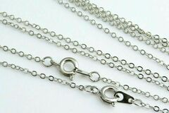 Buy Now: 144 Pcs Fine Cable Chains Sterling Silver Plated in USA -18 INCH
