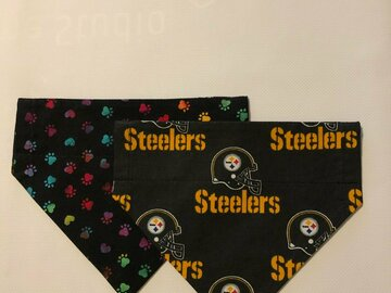 Selling with online payment: Steelers Pet Bandana