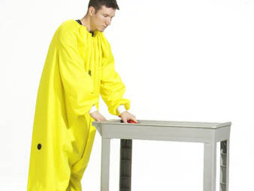 Sell your product: Yellow, Urethane coated Nylon Coverall with zipper in front #8903