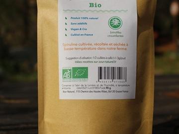 Vente avec paiement en direct: Spiruline certifiée Bio cultivée en France