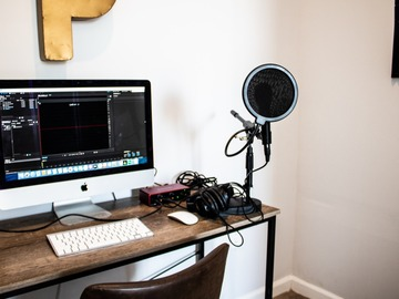 Rent Podcast Studio: Downtown College Park Podcast Recording Space