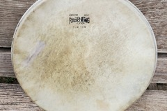 "Selling with online payment: GRadio King 13"" calf skin tom head"