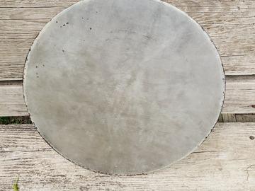 """Selling with online payment: vintage 14"""" calf skin head on steel hoop"""