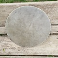 "Selling with online payment: vintage 14"" calf skin head on steel hoop"