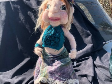 Selling with online payment: Madeline Armatured Posable Felted Doll
