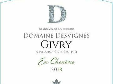 Vente avec paiement en direct: Givry Blanc Cuvée les Chenèves  2018