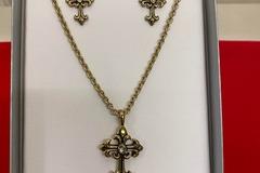 Buy Now: 50 sets- Cross neck & earrings in gift box $18.00 retail-- $2.49
