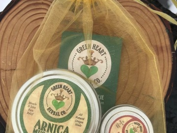 Selling with online payment: Arnica Muscle Rub Gift Pack + Everything Salve