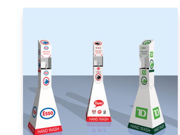 Sell your product: Hand Sanitizing Stations