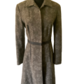 For Sale: KATHERINE: Woollen Leather trimmed Winter Coat | Size 10
