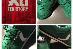 Selling without online payment: NEVER WORN: XTI Territory Green Trainers UK 11 / EUR 45