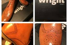 Selling without online payment: NEVER WORN: Men's Shoes Frank Wright Brogue Boots - UK11/EUR45