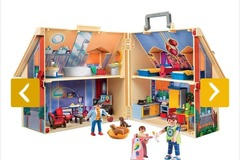 Selling without online payment: Playmobil Take Along Modern Doll House with furniture