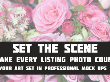 Offering online services: Set the Scene (10 Professional Photo Mockups)