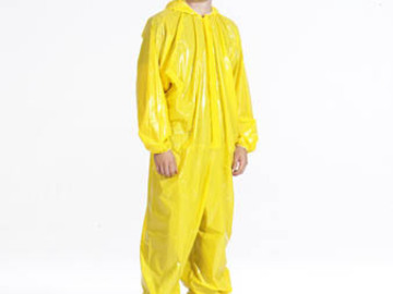 Sell your product: #7745 Y, Yellow Coverall zipper front with attached hood &boots