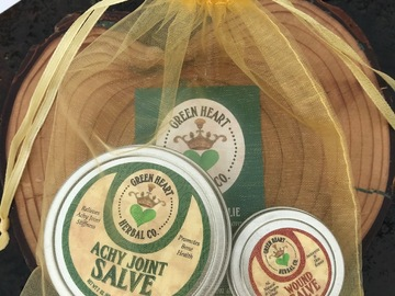 Selling with online payment: Achy Joint Salve Gift Pack+ Wound Salve