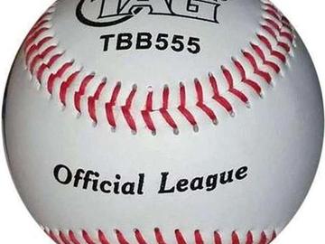 """Buy Now: (102) TAG 9"""" Vinyl Soft Rubber Center Baseballs Model #TBB555-W"""