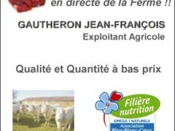"""Vente avec paiement en direct: Lot viande bleu 7.5 kg """"le Must"""""""