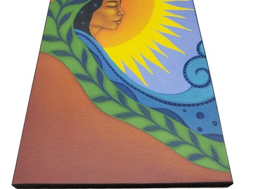 Selling with online payment: Mother Earth Elements - Wood mounted art print by Tamara Adams