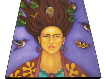 Selling with online payment: Tree Spirit Goddess Art Print of Original Portrait Painting