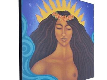 Selling with online payment: Pele Hawaiian Ocean Goddess Art Print of Painting - Tamara Adams