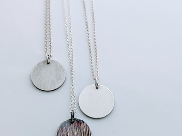 Selling: Silver Disc Necklace