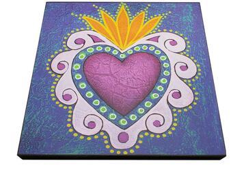 Selling with online payment: Tamara Adams Art - Purple Heart Art Print of Original Painting