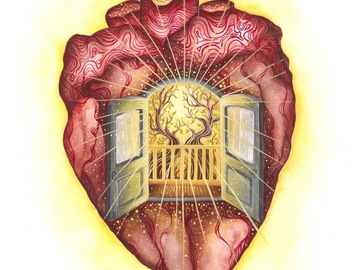 Selling with online payment: Heart Expansion - Giclee Print