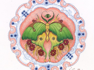 Selling with online payment: Luna Moth Mandala