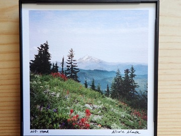 "Selling with online payment: Mt. Hood 4x4"" Framed Print"