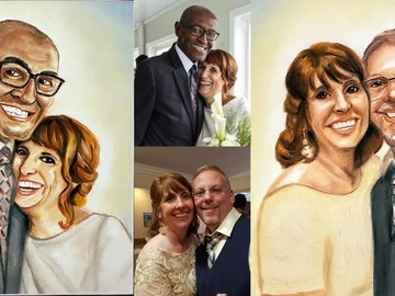 "Selling with online payment: Portrait from Photos 11""x17"" (two persons)"