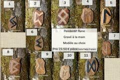 """Verkaufen: Pendentif """"Rune"""" - gravé dans le bois by La Tournerie"""