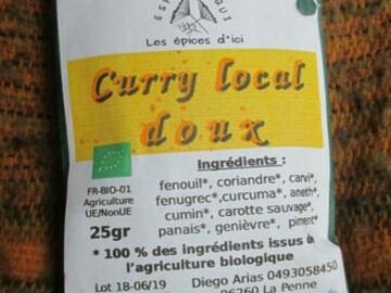 Vente avec paiement en direct: curry local bio