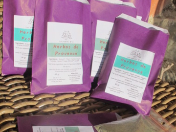 Vente avec paiement en direct: Herbes de Provence en poudre, 45 g