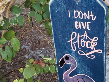 Selling with online payment: Flamingo Door Tag Sign