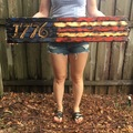 Selling with online payment: Wooden American Flag, 1776 Half Flag